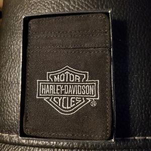 Harley Davidson money clip/card holder